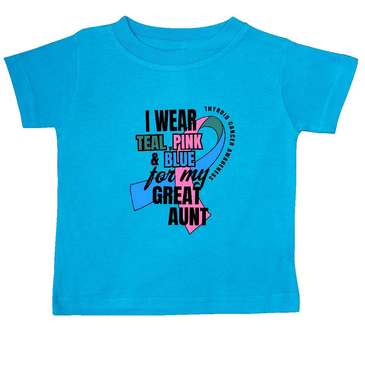 inktastic I Wear Teal Pink and Blue for My Great Aunt Baby T-Shirt