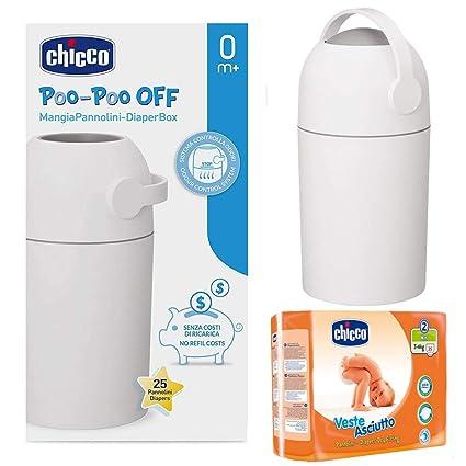 CHICCO Starter de nacimiento: Cubo para pañales Odour Off + Chicco pañales Mini (Talla