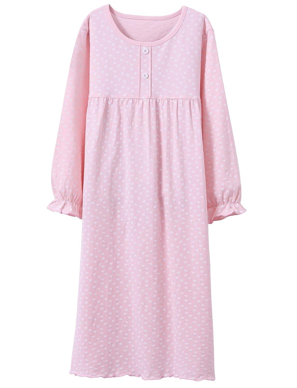 2174bce436d7b BOOPH Girls Princess Nightgown Toddler Heart Shape Sleepwear Nightwear Dress