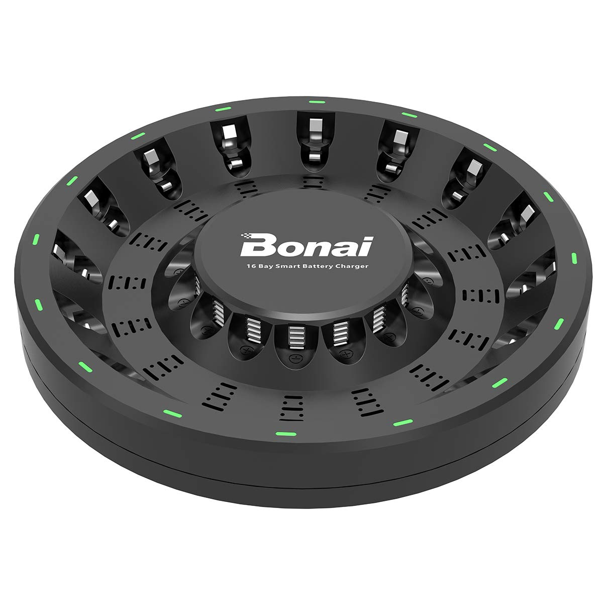 Bonai 16 Bay Aa Aaa Smart Battery Charger Round For Simple Nicd Electronic Circuits Rechargeable Nimh Batteries With Adapter Home Audio Theater