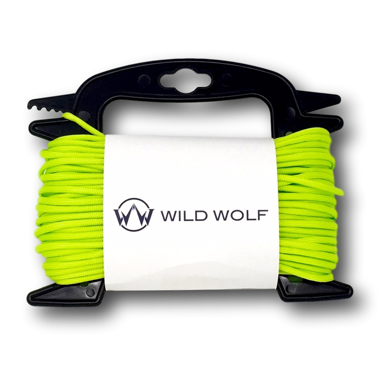 100 Feet of Paracord by Wild Wolf Pack On Winder for Tangle-Free 550 Lb Parachute Survival Craft Cord