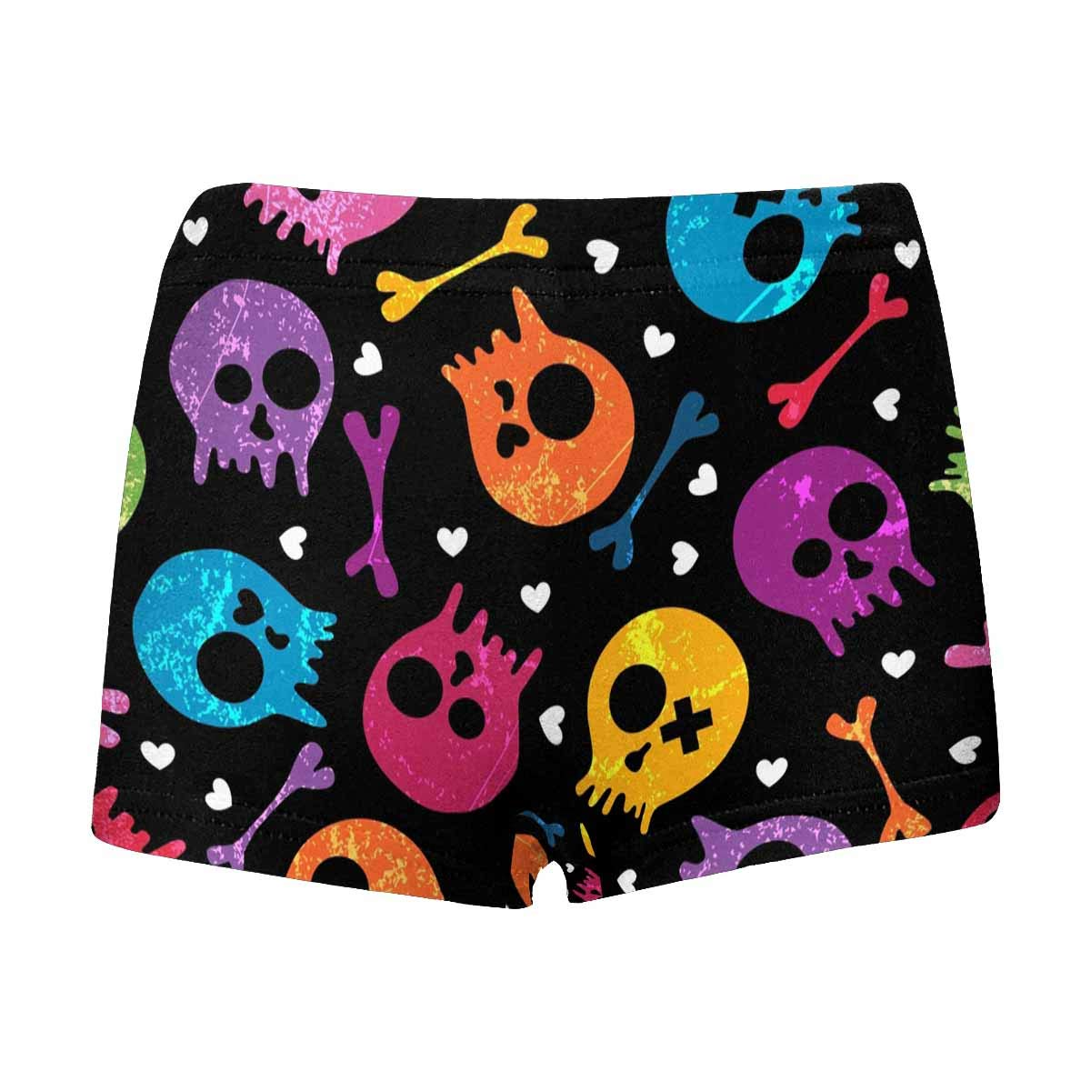 5T-2XL INTERESTPRINT Boys Skulls and Hearts Red All Over Print Boxer Briefs