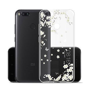 Funda para Xiaomi Mi 5X / Xiaomi Mi A1 , IJIA Transparente Blanco Ewha TPU Silicona Suave Cover Tapa Caso Parachoques Carcasa Cubierta para Xiaomi Mi ...