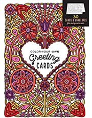 Color-Your-Own Greeting Cards: 30 Cards & Envelopes for Every Occasion