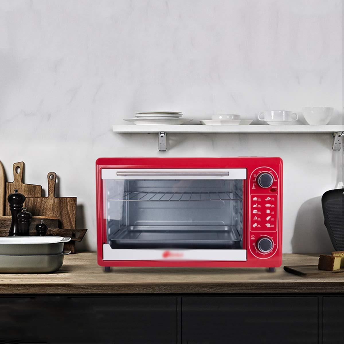 - -   オーブントースター ミニ電気オーブン家庭用小型オーブン48 SGKJJ B07Q1C2QHB L高温オーブン磁器インナーメカニカルノブ小型オーブン ミニオーブン