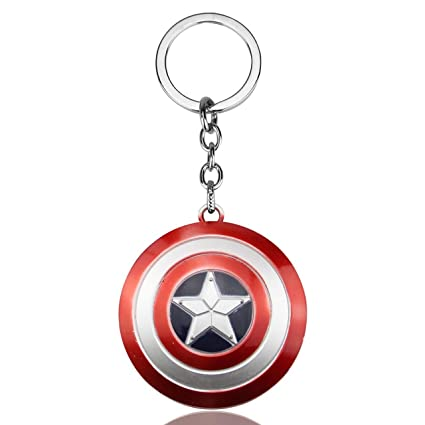 d8d5f0192a6 SmallAll Marvels Captain America Red And Silver Keychain  Amazon.in  Bags
