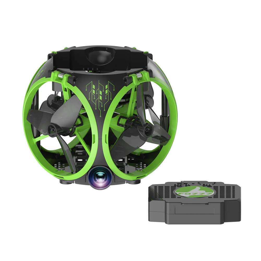 COL PETTI Faltbare Drohne WiFi FPV Mini Drohne Quadrocopter mit Kamera 0.3MP Höhenlage G-Sensor Quadrupter APP Telefonsteuerung, Spaß Geschenk für Kinder