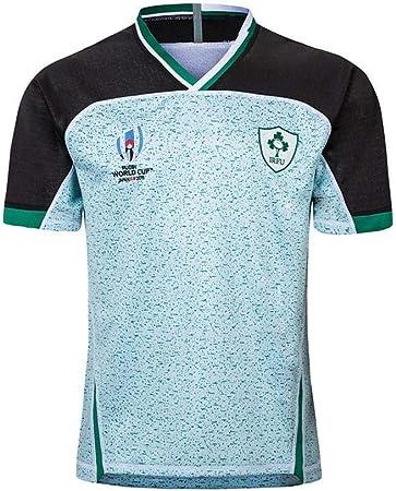 T-SHIRT 2019 Japón Copa Mundial De Irlanda Casa Lejos Hinchas De Fútbol Camiseta De Fútbol Camisas De Manga Corta De Rugby Fan Formación De Secado Rápido Sportswear Green-XXXXL: Amazon.es: Hogar