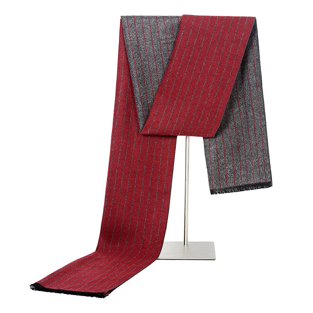 ANMIDA Men Winter Cashmere Scarf Business Gift Scarf Warm Handsome Scarves for MEN