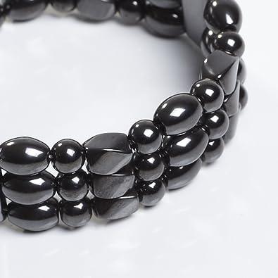 74a25396168 Amazon.com: Hampton Magnetite Magnetic Bracelet - Triple Strand ...