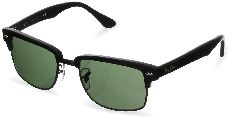 3db99b792c Ray-Ban Men s Clubmaster RB4190-877-52 Black Square Sunglasses  Ray-Ban   Amazon.co.uk  Clothing