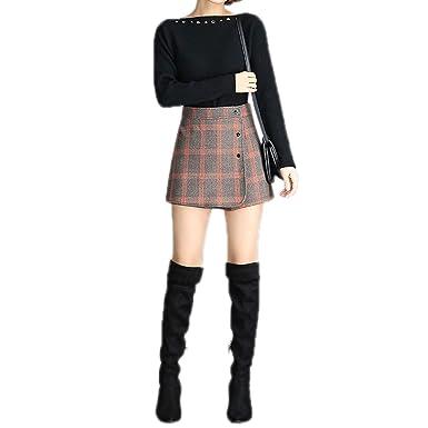 Cicilin - Falda de Mujer a Cuadros con pantalón Interior de Estilo ...