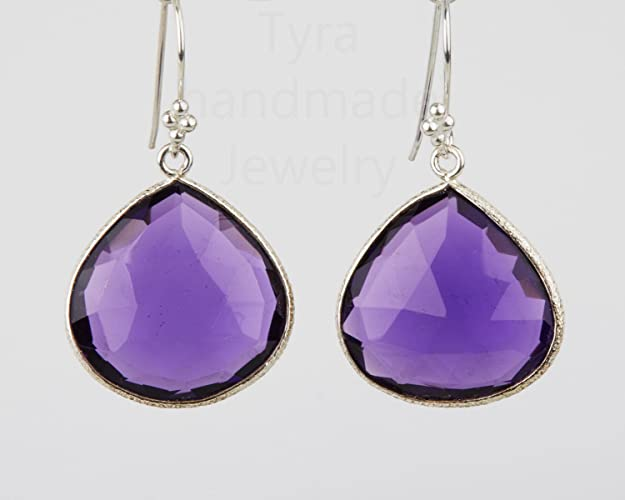tiny earrings stone amethyst stud sterling with earring gemstone silver