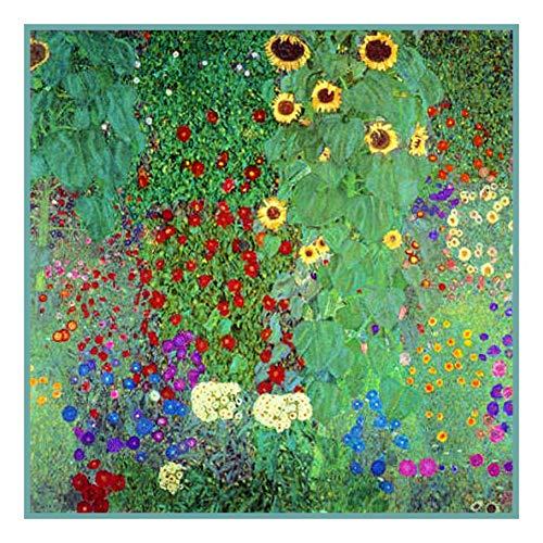 Orenco Originals Sunflowers by Gustav Klimt Counted Cross Stitch -