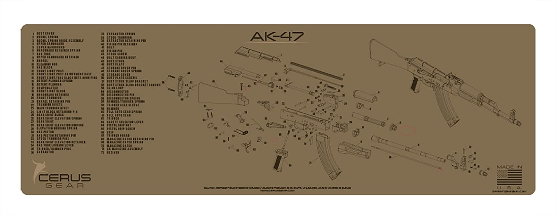 Cerus Gear AK-47 Schematic Rifle Promat, Coyote Tan on