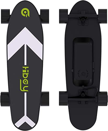 Hiboy Electric Skateboard in black with white arrow