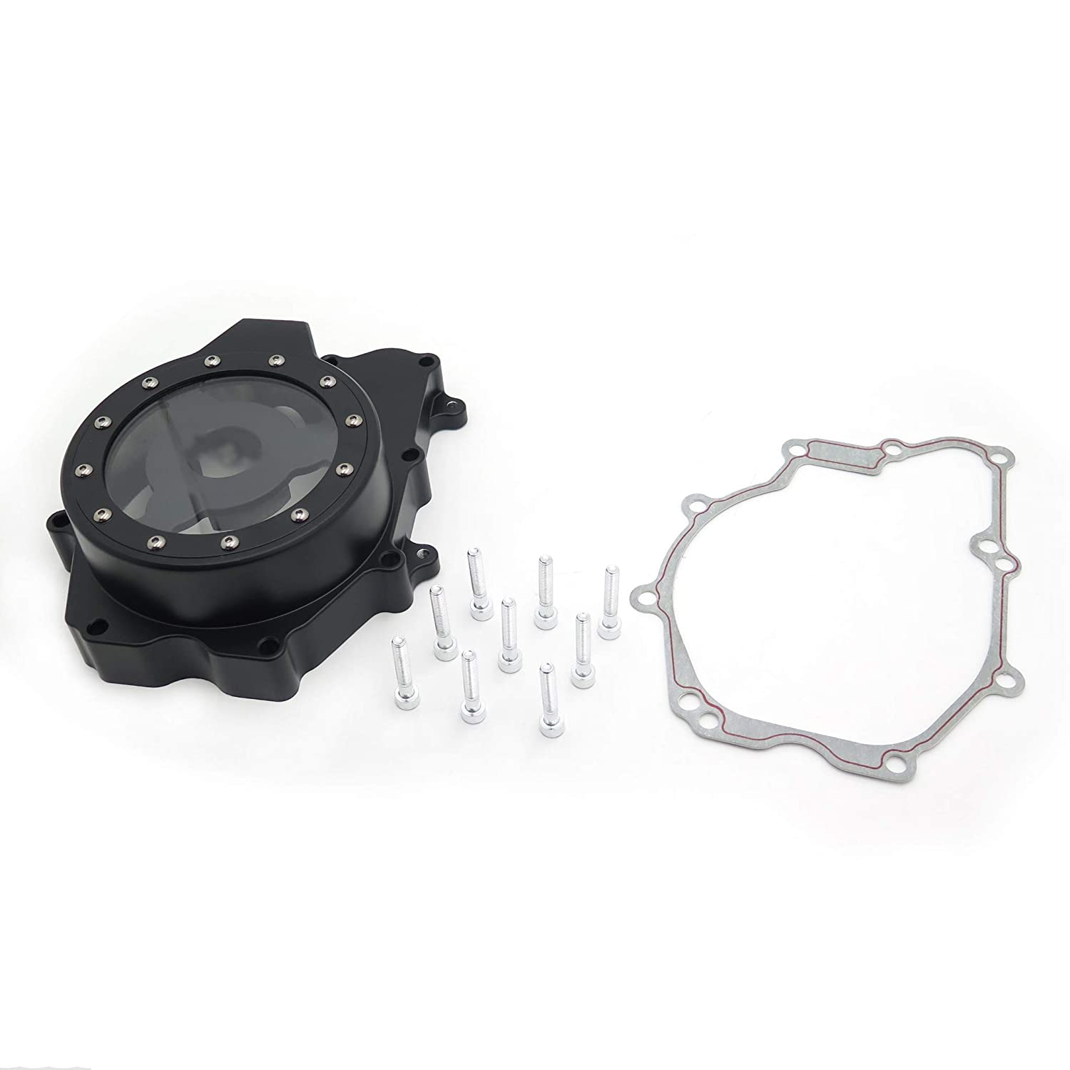 Black Stator Engine Cover See Through For Yamaha 2006 YZF-R6S 2003-2006 YZF-R6 HTT