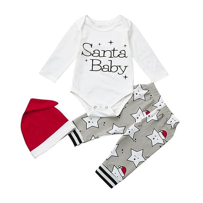 Ropa Bebé, Manadlian Conjunto de ropa de bebé recién nacido Navidad ...