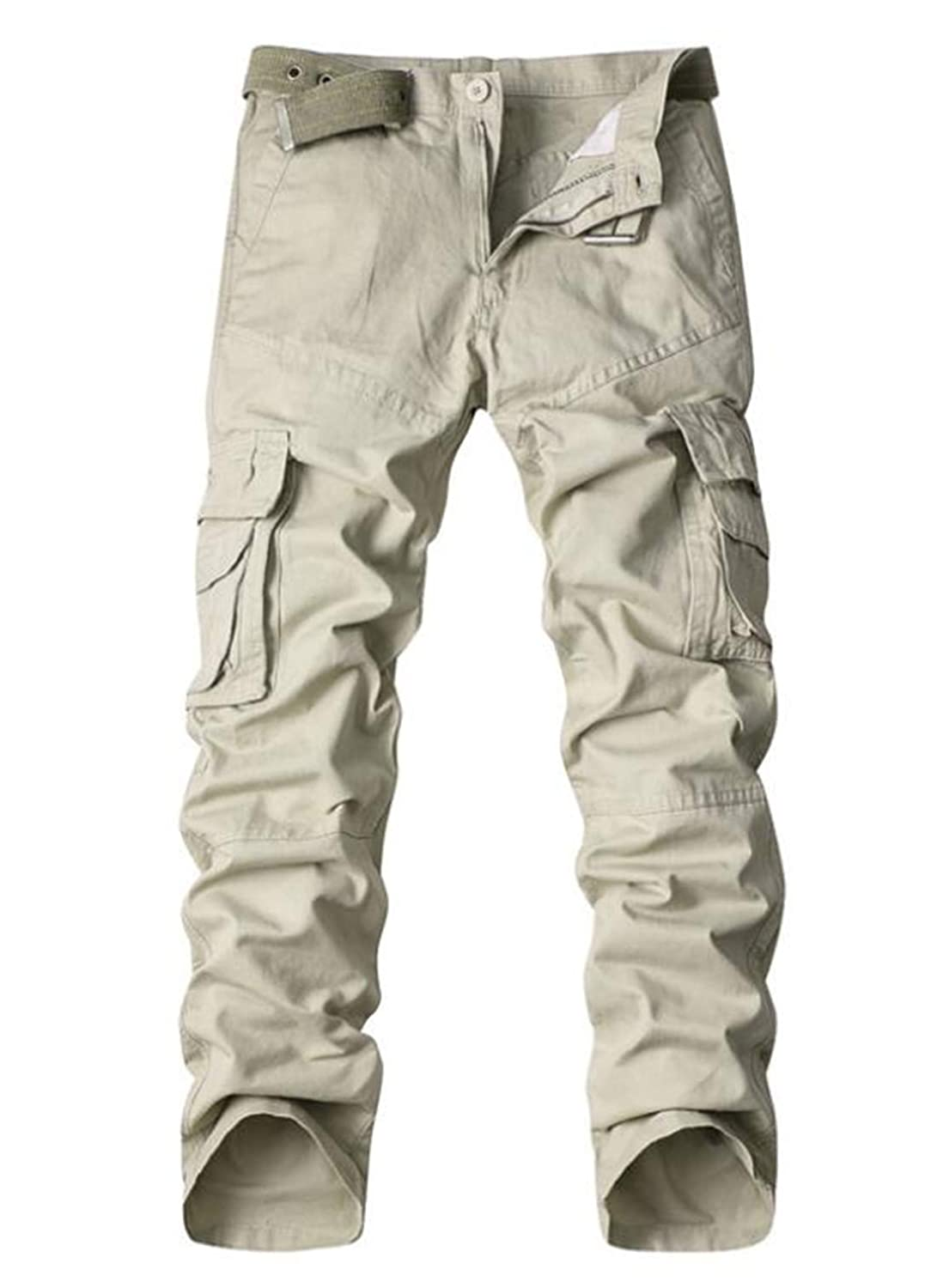 WNSY Men Casual Military Tactical Wild Combat Cargo Work Pants
