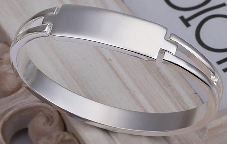 SIENNA693 Silver Plated Bangle Bracelets 925 Silver Jewelry Fashion Bangle Jewelry Gift for BFF SU716