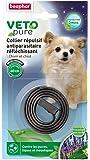 Beaphar - VETOpure, collier répulsif antiparasitaire réfléchissant - chien et chiot - noir