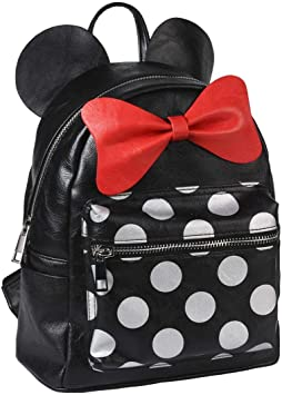 Oferta amazon: Cerdá Mochila Casual Moda Polipiel Minnie, Negro, 25 cm