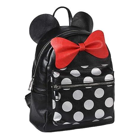 Mochila Casual de Disney Inspirada en Minnie Mouse con Licencia Oficial/ Mochila de Disney Minnie Mouse para Jóvenes o Adultos, Medidas 22 x 25,5 x 11,4 cm ...