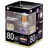 アイリスオーヤマ LED電球 フィラメント口金直径26mm 80形相当 ボール球タイプ 密閉器具対応 電球色 クリア LDG9L-G-FC