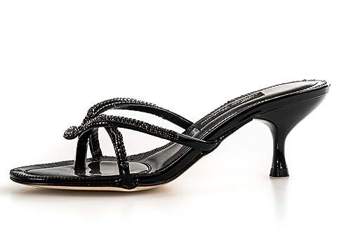 27823abba33a5 Sandalo infradito con strass ALBERTO VENTURINI nero scarpe donna N36 X3156   Amazon.it  Scarpe e borse