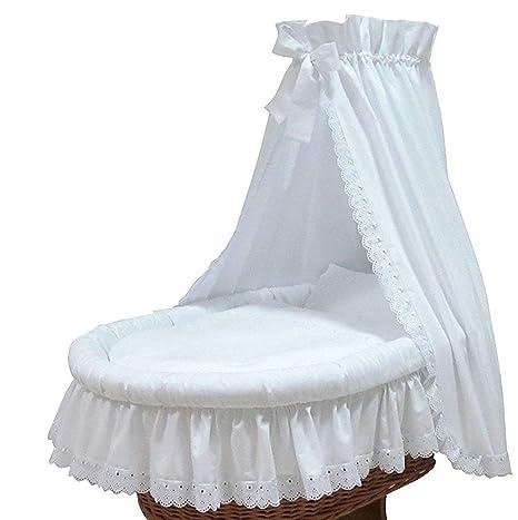 Dosel para cama de Mois/és mimbre Cochecitos de color blanco nuevo