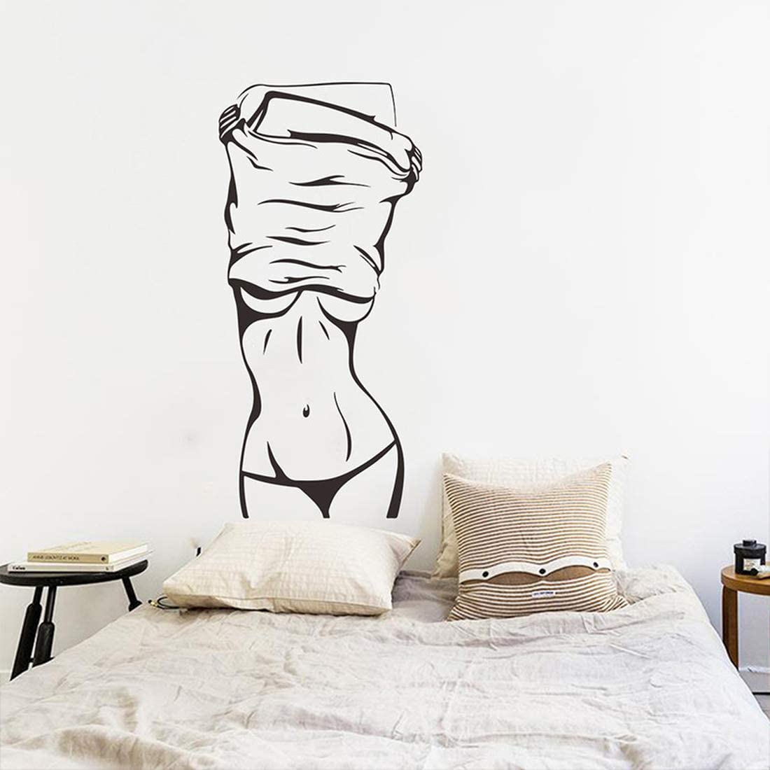 Wall Stickers Decor-Great for Room,Livingroom,Walls,Kitchen,Bedroom and More, Wall Stickers Decals (Undressing Beauty)