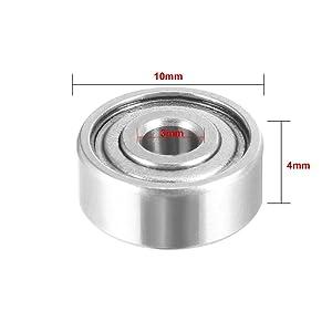 uxcell 20pcs 623ZZ 3mmx10mmx4mm Double Shielded Miniature Deep Groove Ball Bearing (Color: 623ZZ, Tamaño: 623ZZ, 20pcs)