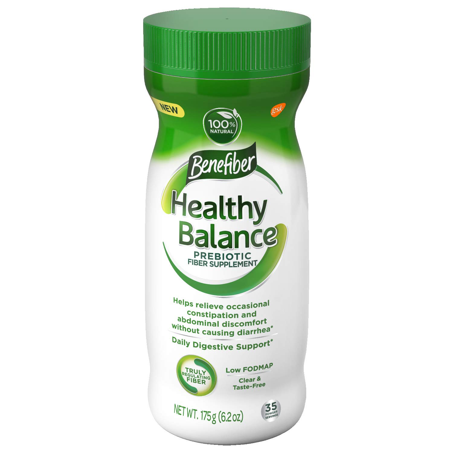 Benefiber Healthy Balance Daily Prebiotic Dietary Fiber Supplement Powder for Digestive Health, Clear and Taste-Free, 35 Servings of Fiber Powder, 6.2 oz by Benefiber