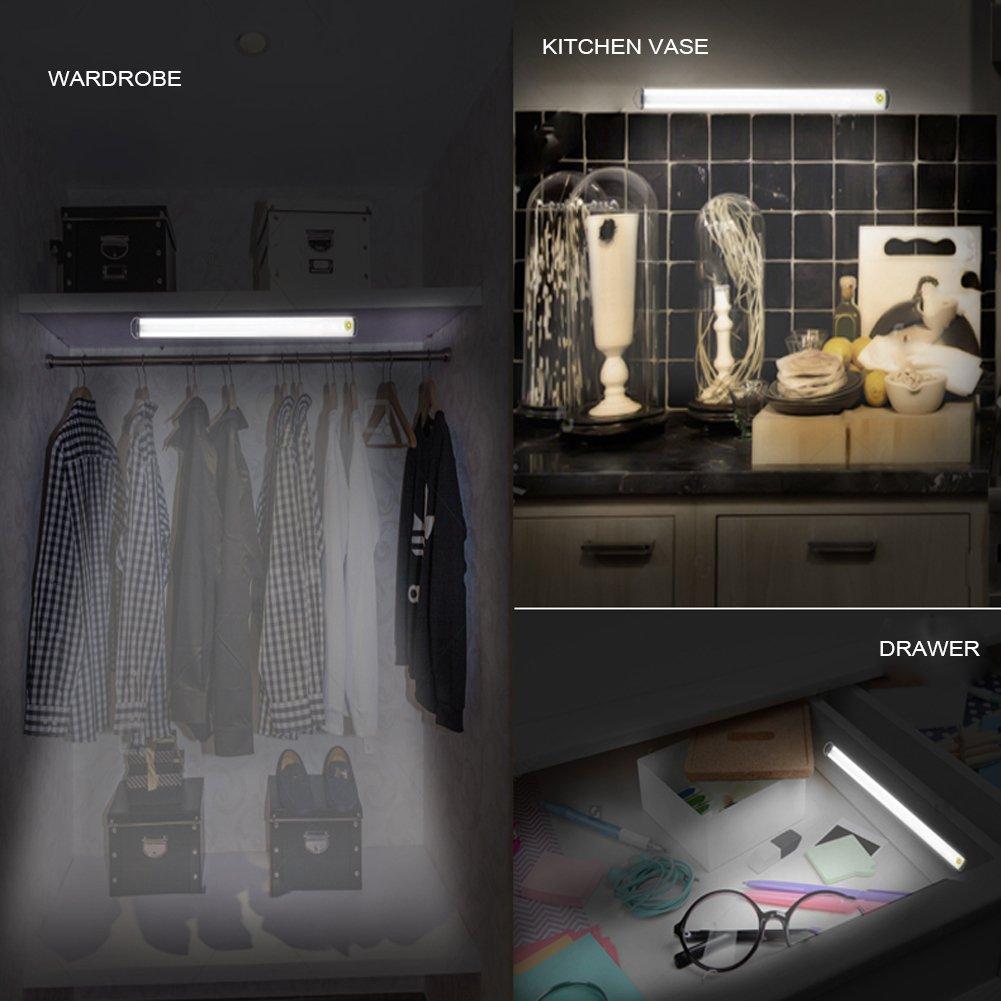 Tradinno Unter Schrank Licht, Dünn Dimmable Touch Sensor 15 LED ...