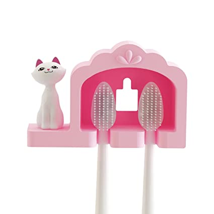 amazon com clsstar cute kitten toothbrush holder home kitchen