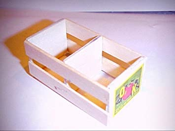 Amazoncom Dollhouse Miniature Real Wooden Crate With Advertising