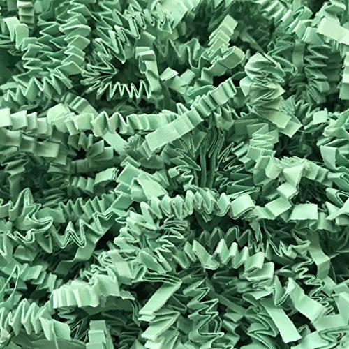 Black Cat Avenue 1 LB Mint Crinkle Cut Paper Shred Filler For Gift Wrap and Basket Filler by Black Cat Avenue