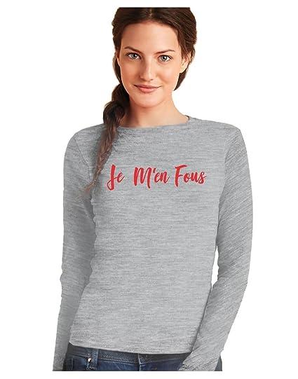 Fashion Week Style T-Shirt Femme Je men Fous