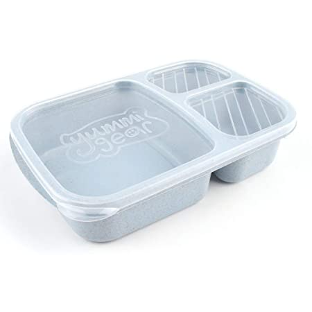 Paja de Trigo Bento Box 3 Rejillas con Tapa Microondas Caja ...