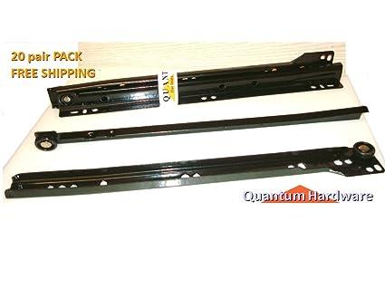 16 Inch 75 Lb Black Epoxy Coated Cabinet Drawer Slides Blum Type