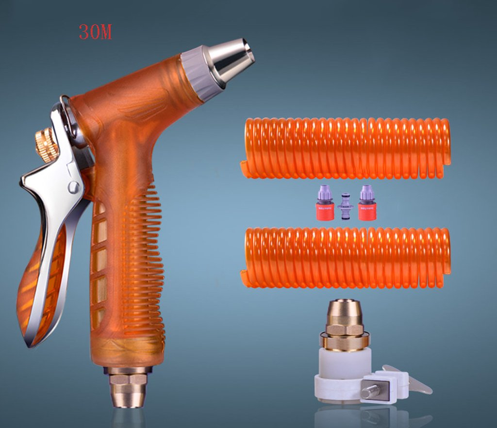 SHI XIANG SHOP Tragbarer Frühling Hochdruck Waschwasser Pistole Orange Multi-Length Optional A+ ( größe : 30 meters )