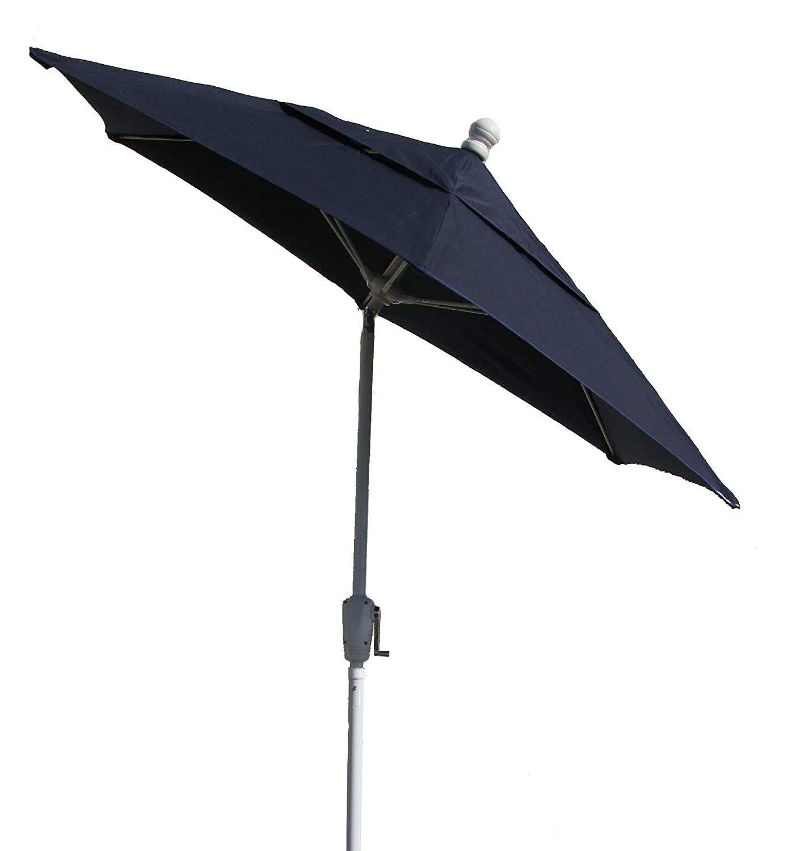 Awesome Amazon.com : FiberBuilt Umbrellas Terrace Umbrella With Push Button Tilt,  7.5 Foot Beige Canopy And Champagne Bronze Pole : Patio Umbrellas : Garden  U0026 ...