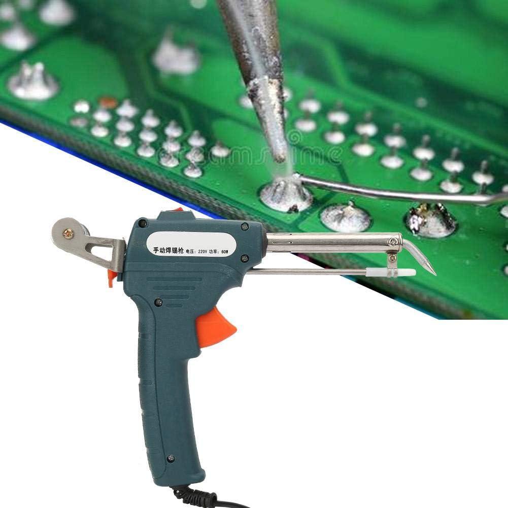60W Automatische L/ötpistole Aluminiumlegierungs-Zinn-Hei/ßschwei/ßpistolen-Zinn-Ger/ät mit L/öthalter-EU-Stecker 220V #2