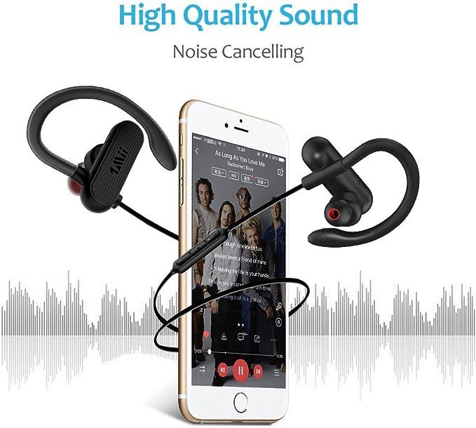 Amazon.com: 1 Mii Auriculares Bluetooth con 12 horas de ...