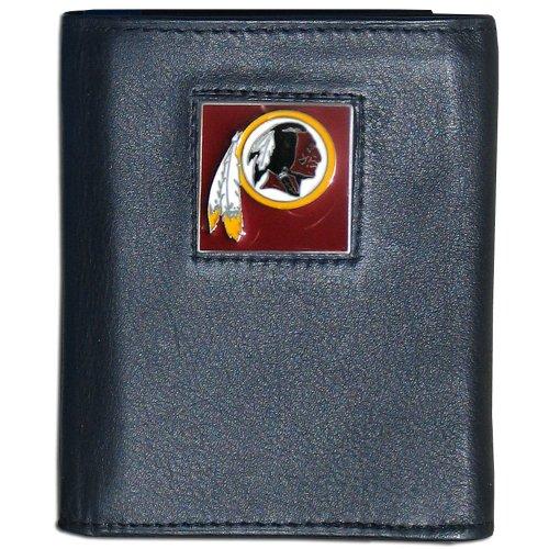 Nfl Leather And Nylon Trifold - Washington Redskins