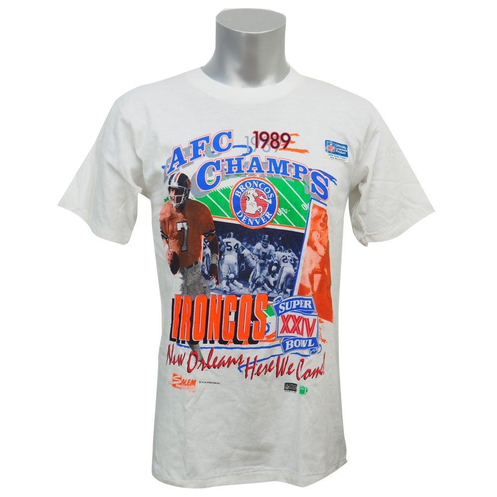 Salem(セーラム) NFL デンバーブロンコス 1989 AFC チャンピオンズ Tシャツ (ホワイト) Small  B01K71H090