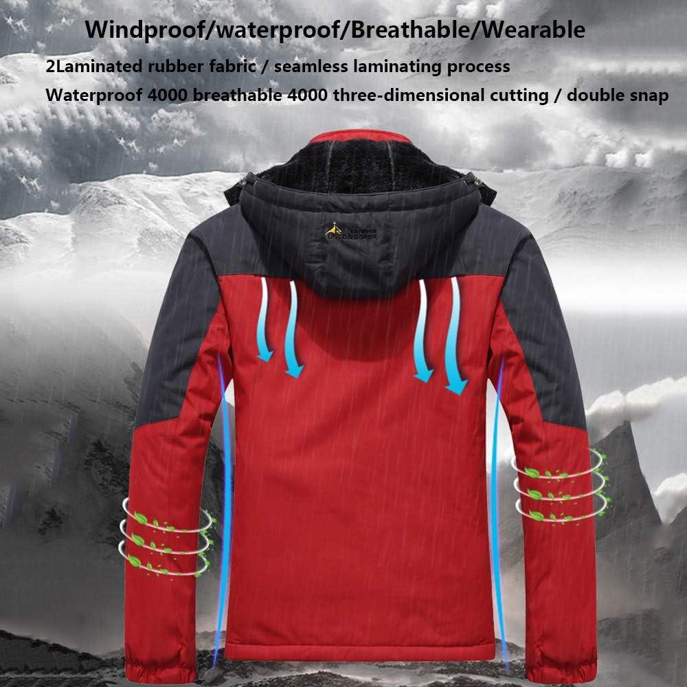 Veste Imperméable Coupe-Vent Imperméable Sportswear Outdoor Randonnée Vélo Sports Détachable À Capuche Manteau pour Hommes/Femmes Color blue-male