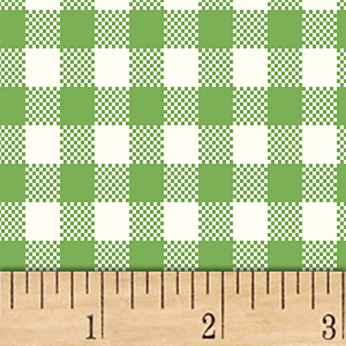 Windham Fabrics Sugar Sack Gingham Check Green Fabric by The Yard