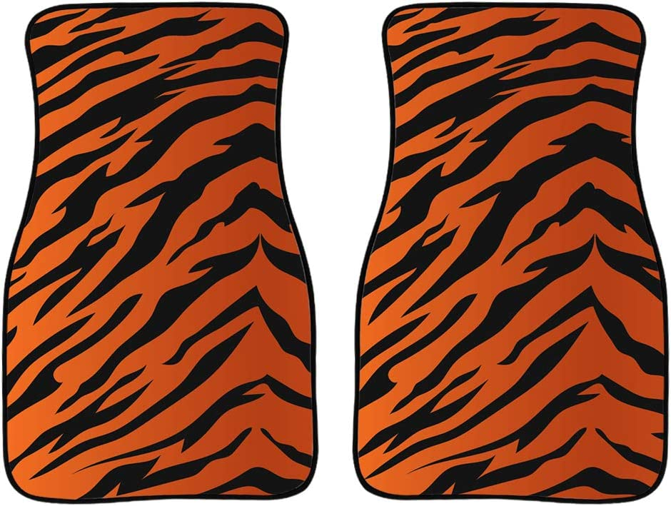 Coloranimal Rubber Floor Mat Front Seat Protection Rubber Carpet 2PC Leopard Green Foot Pad Anti Skid