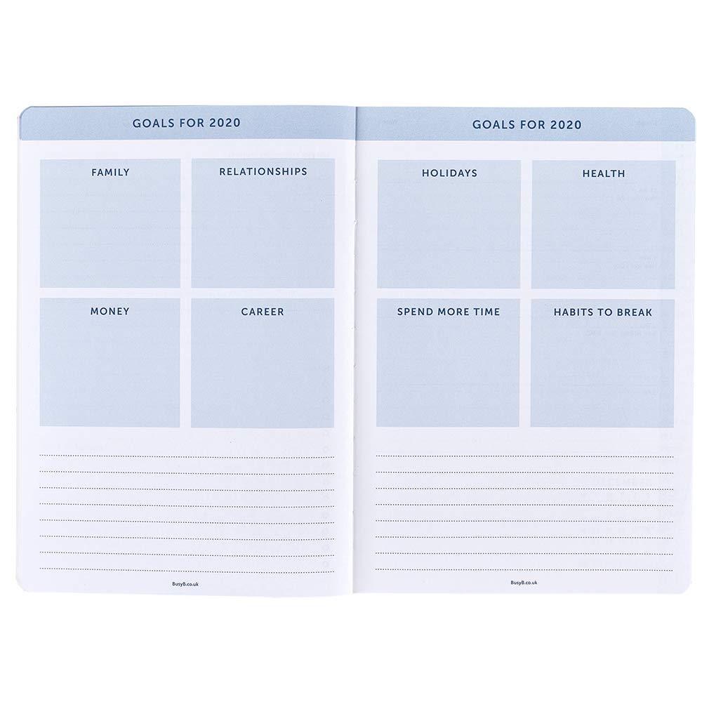 Agenda diaria 2020 Busy B - semanal A5 azul con notas ...